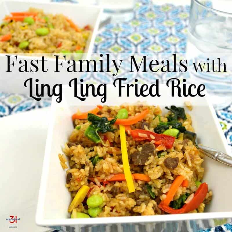 Even on busy nights, you can sit down to fast family meals that everyone will love. Ling Ling Fried Rice makes it easy to make dinner any busy night.  #FriedRiceFriday #IC [ad]