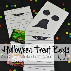Halloween Treat Bags You Make Last Minute