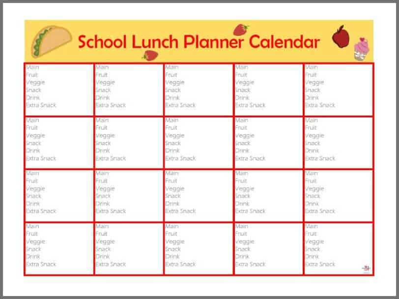 Use this free printable Back-to-School Lunch Box Planner to provide your child with a variety of wholesome lunches and save you time, money and headaches each morning. #PowerTheirDay [ad]