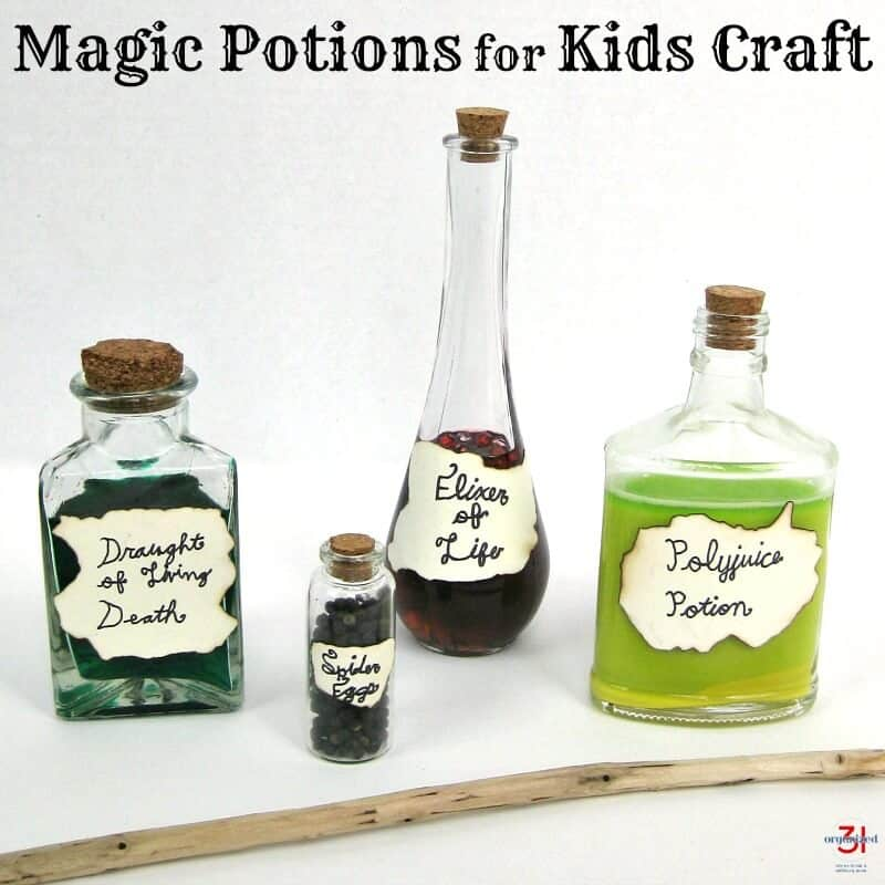 4 bottles of DIY lotions with DIY labels and text overlay