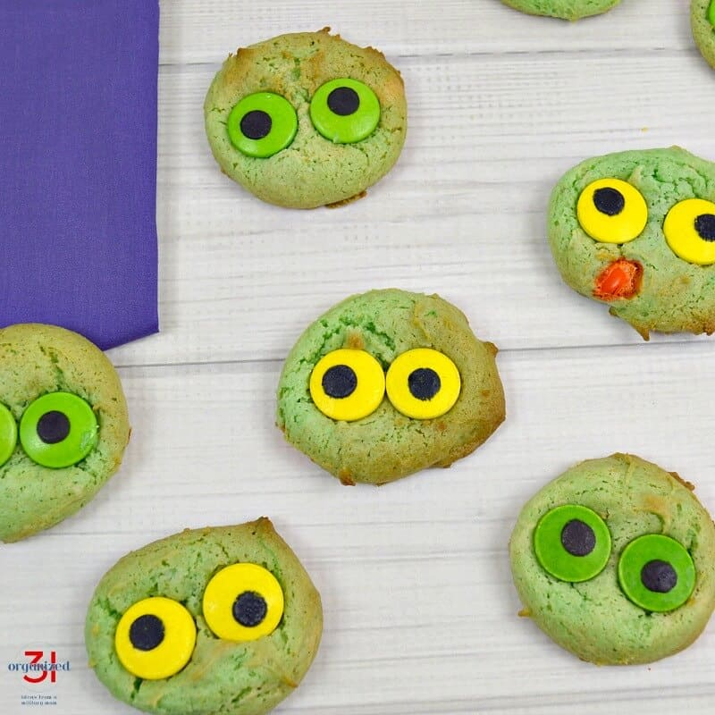 Monster Eyeball Cookies are so easy to make and always impress. Perfect for parties and Halloween. The recipes starts with a cake mix. .