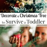 How to Toddler Proof A Christmas Tree