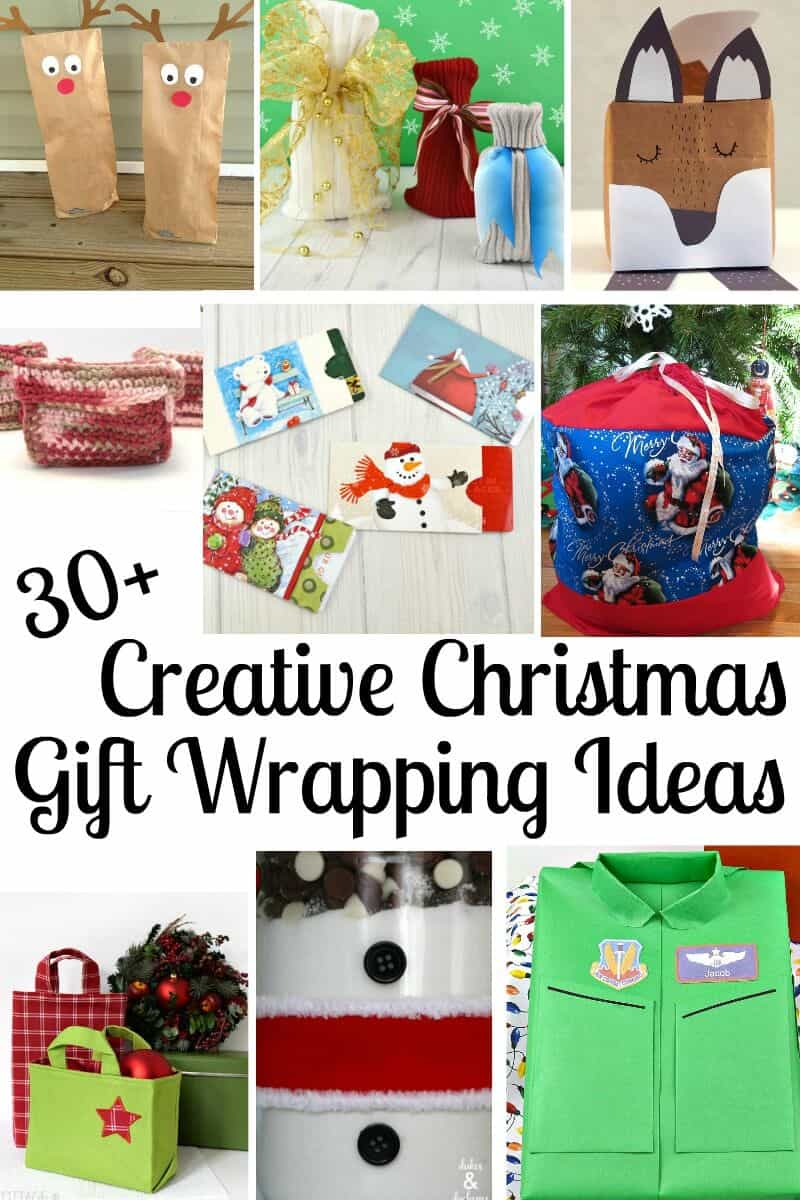 More than 30 Creative Christmas Gift Wrapping Ideas make gifts just that much more special. #Christmas #ChristmasWrappingIdeas