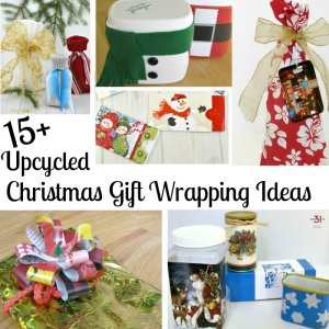 Collage of 6 upcycled Christmas gifts with text overlay