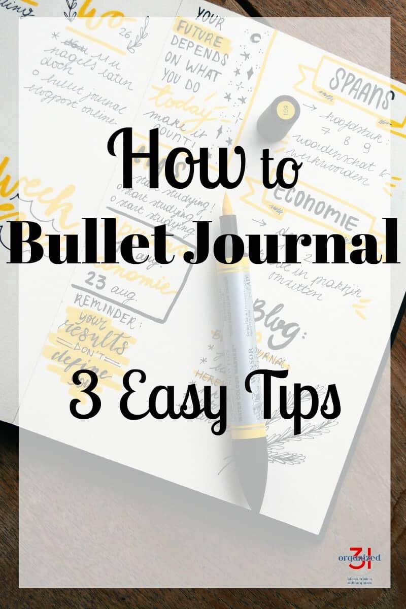 Wondering how to get started bullet journaling? It couldn't be easier with these 3 easy tips on how to start a bullet journal.