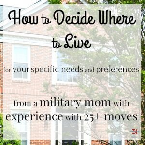 How to Decide Where to Live