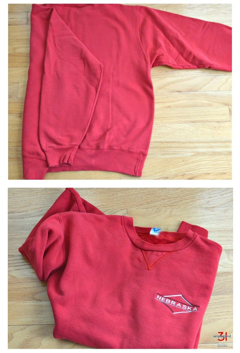 photos of how to fold a sweatshirt