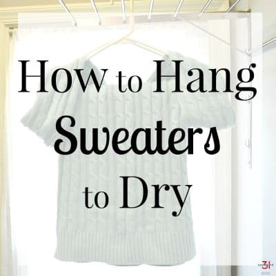 How to Hang Sweaters to Dry
