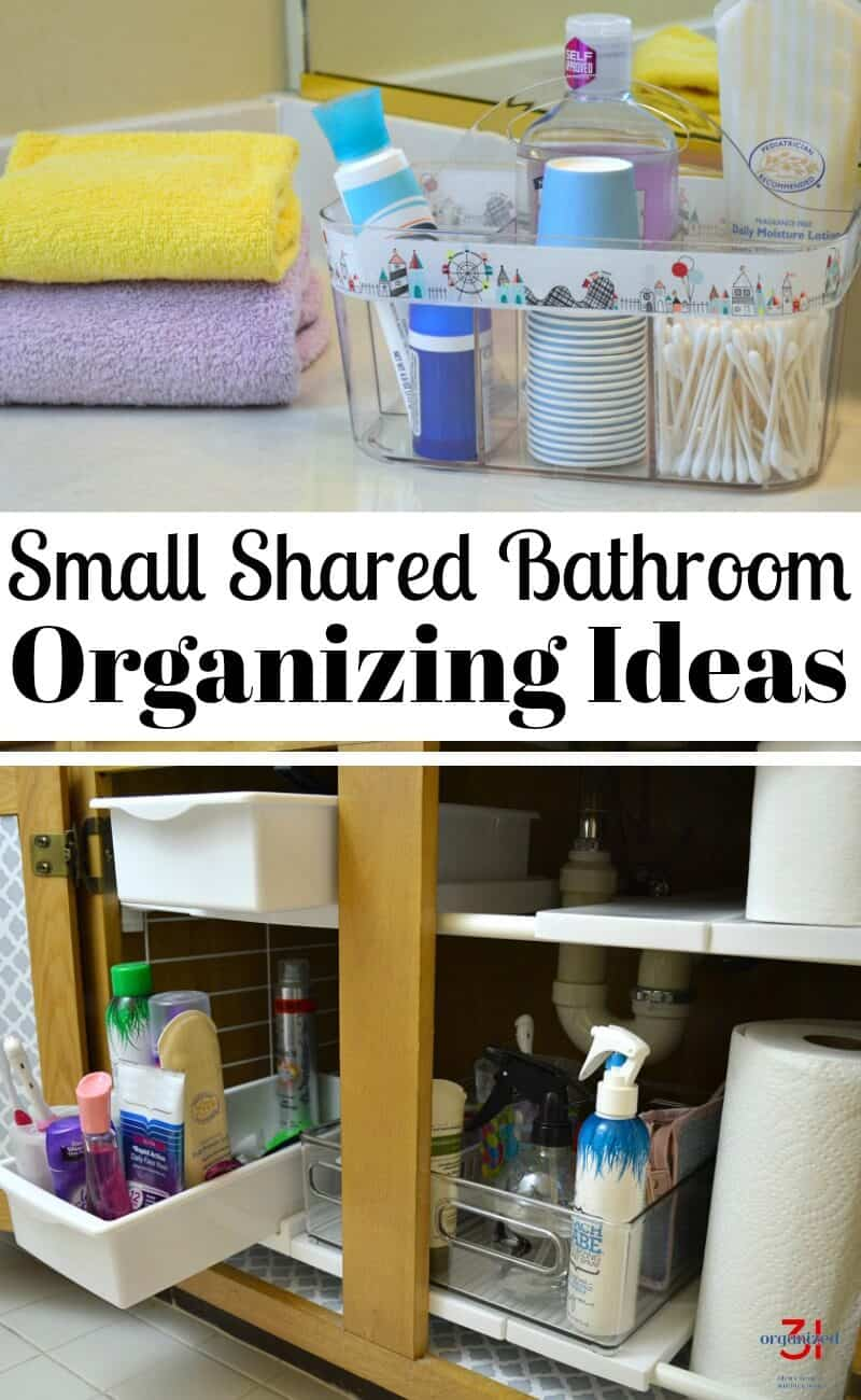 Small bathroom organizing ideas organize a small shared Organizing ideas for small bathrooms