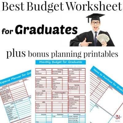 Best Budget Worksheet for Graduates