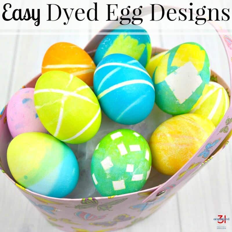 Dyed Egg Designs Easy To Make Organized 31