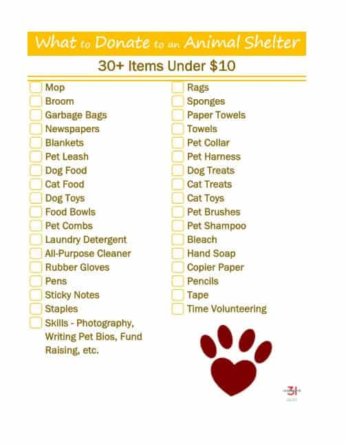 Help your local animal shelter and make the maximum impact by knowing what to donate to an animal rescue shelter to help the animal rescue group and the animals with these 35 donation ideas that are under $10 each. #FortunaforAll [ad]