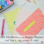 DIY Dividers for Happy Planners