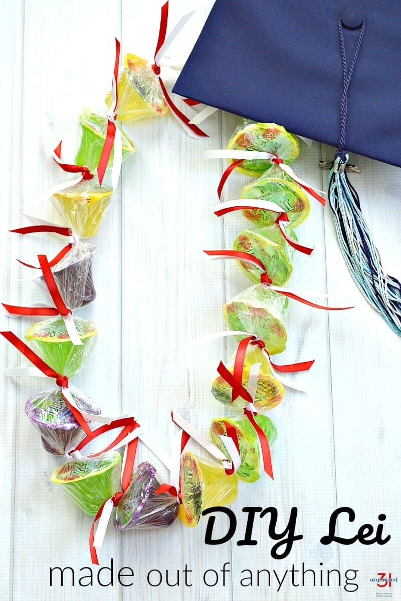 There are many types of traditional lei making, but sometimes it's fun to make a unique lei. This DIY lei can be made from almost anything: oddly shaped candy, favorite snacks, toys, or almost anything.