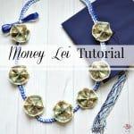Money Lei Tutorial with Ribbon Lei