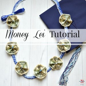 Money Lei Tutorial with Ribbon Lei