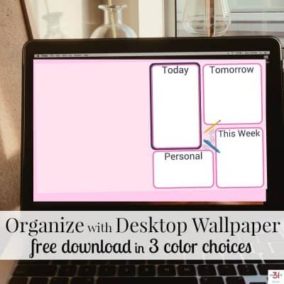 Organize with Desktop Wallpaper (free download)