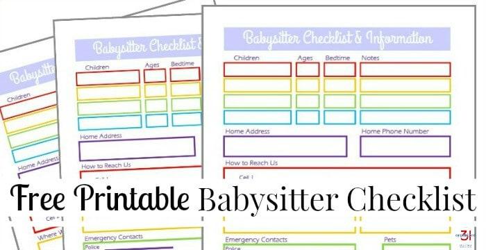 photograph regarding Free Printable Babysitter Information Sheet titled Babysitter Written content Sheet Free of charge Printable - Ready 31
