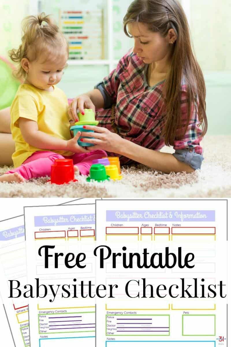 It's important to provide your babysitter with critical information to keep your children and the babysitter safe and give you peace of mind. Use this free printable Babysitter Information Sheet to help you share all the necessary information.