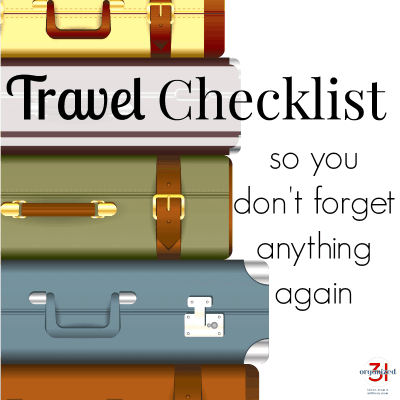 Travel Checklist (don't forget to pack anything)