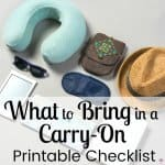 What to Bring in a Carry-On
