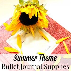 Bullet Journal Ideas – Summer Theme Supplies