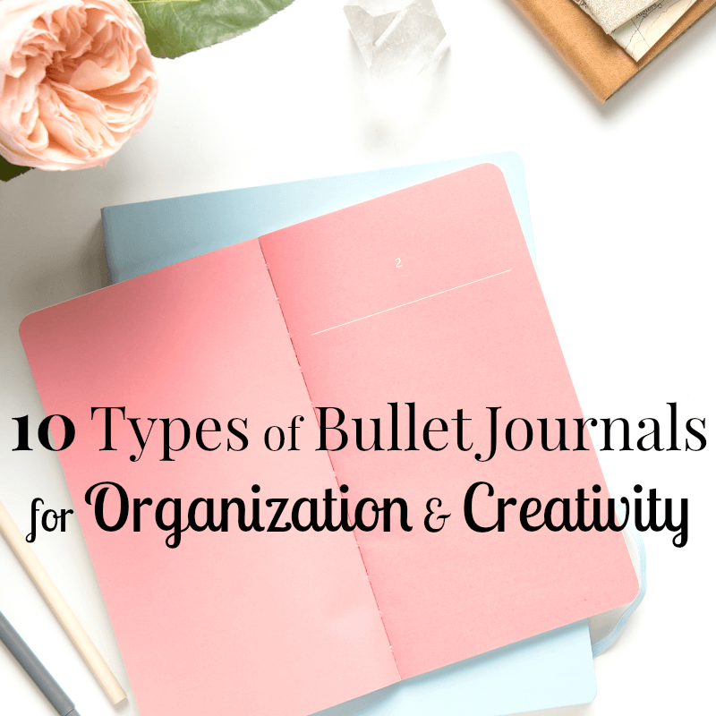 Wondering about a bullet journal and what it is? Here's an explanation of 10 types of journals for planning, organizing and creativity.