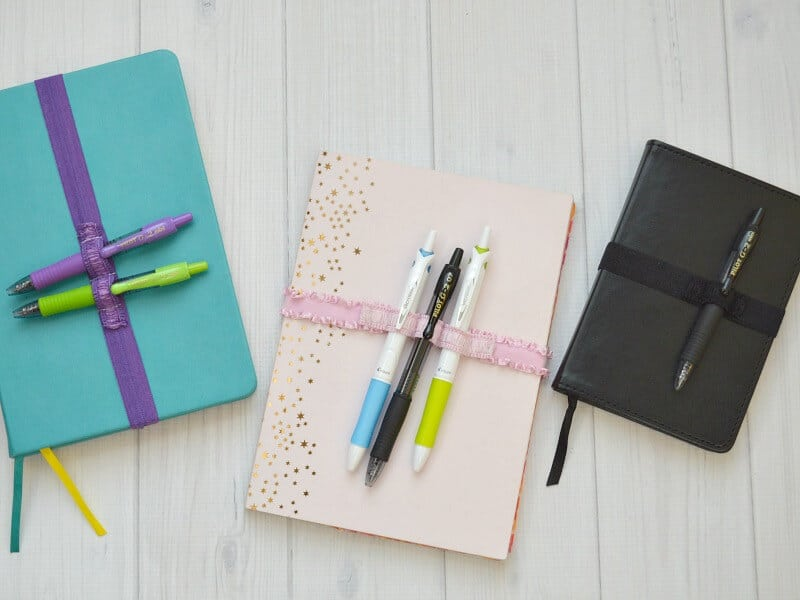 Keep favorite pens with your journal or planner by making a DIY Pen Strap. Carry 1 pen or as many as you want. Make it in a coordinating or favorite color.