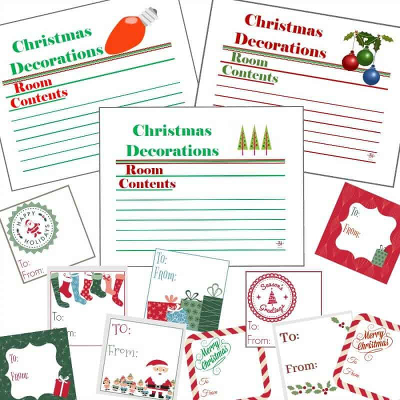 image about Christmas Labels Printable named Xmas Labels Present Tags Fixed