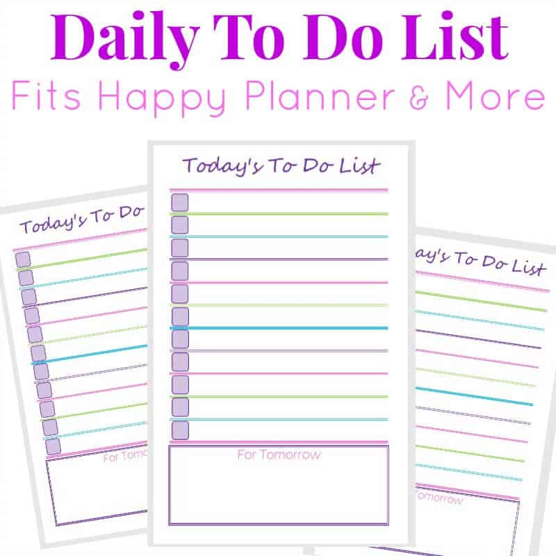 photograph relating to Daily to Do List Printable identified as Every day Toward Do Checklist
