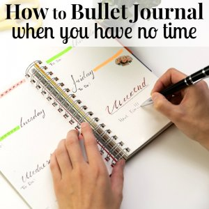 How to Bullet Journal When You Have No Time