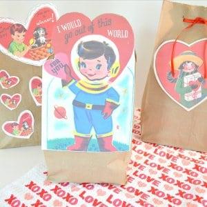 Vintage Valentines Gift Bags