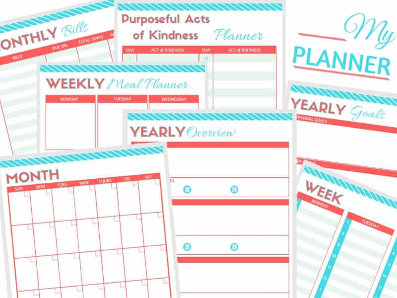 photograph about Discbound Planner Pages Printable named Absolutely free Planner Printables - Geared up 31