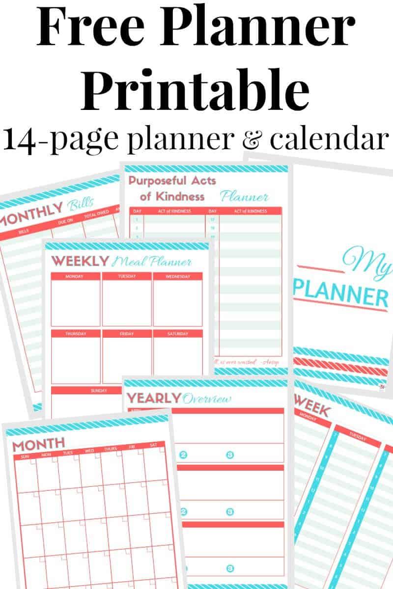 free printable calendar and planner organized 31