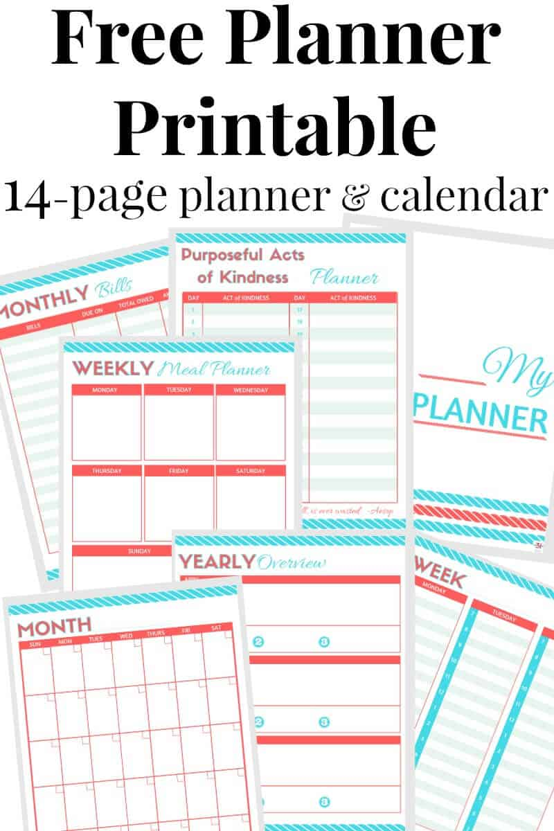 photograph regarding Discbound Planner Pages Printable referred to as No cost Planner Printables - Geared up 31