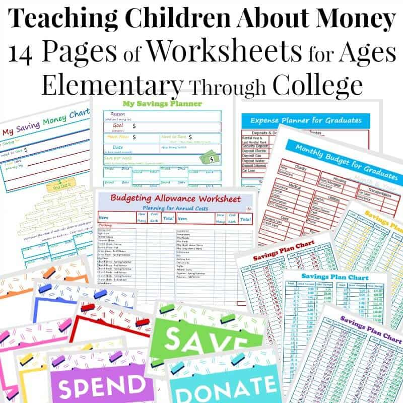 Teaching Children About Money Worksheet Pack Organized 31