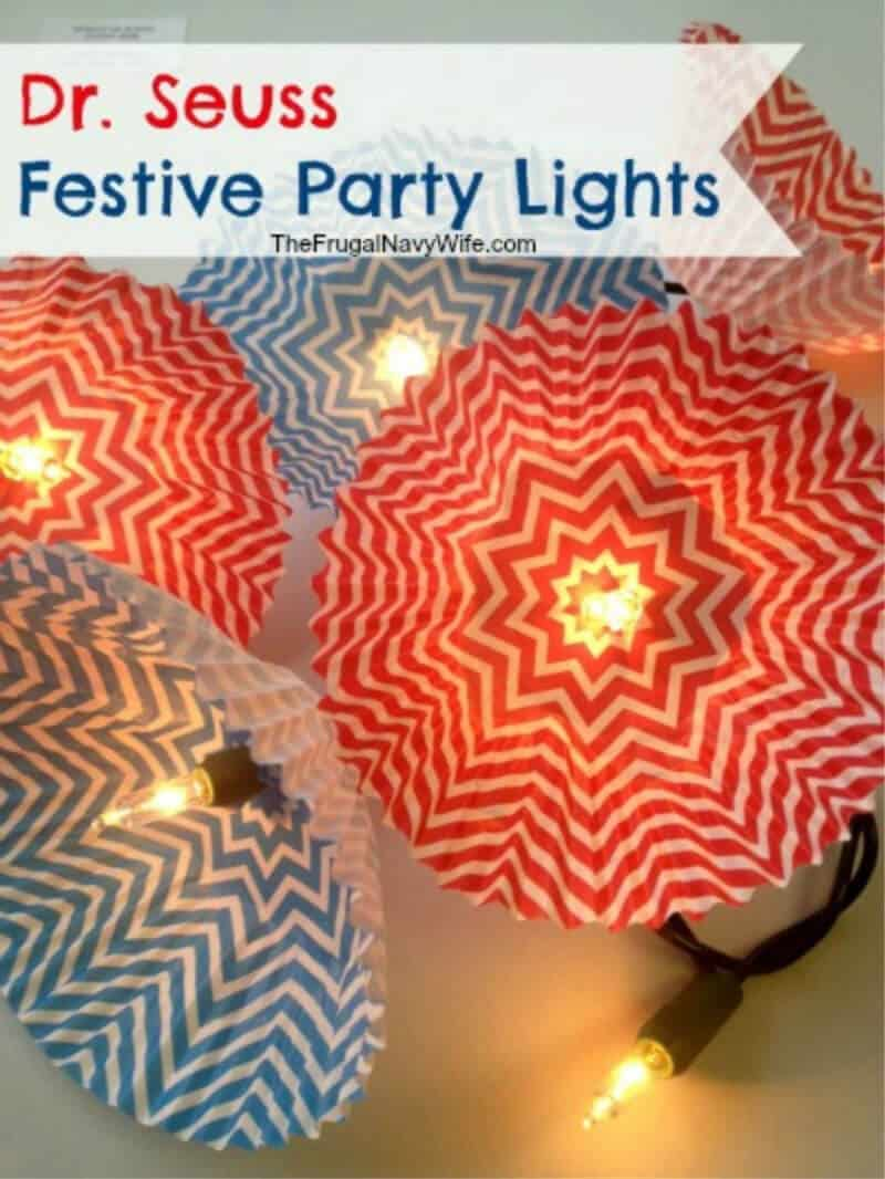 red and blue party lantern lights