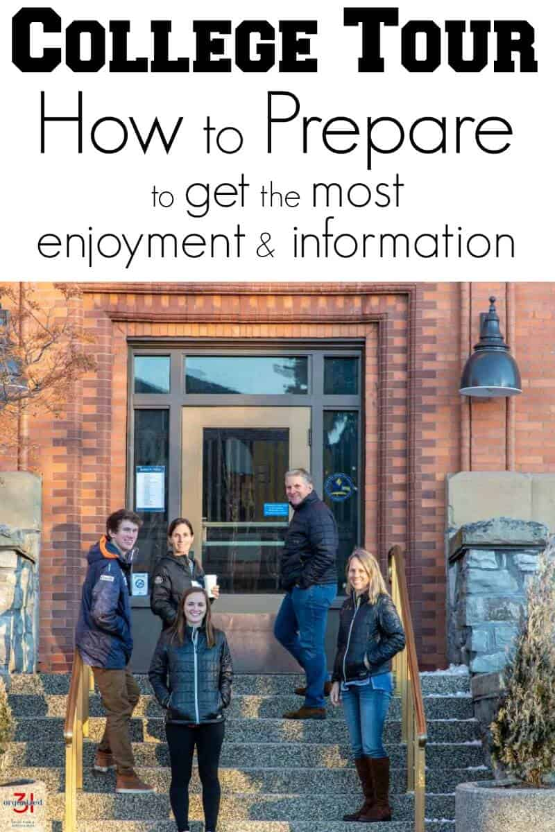 How to Prepare to get the most enjoyment & information from a college tour visit. Be prepared so you can obtain the critical information you need.