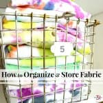 How to Organize and Store Fabric