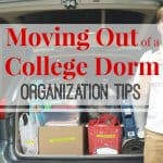 Moving Out of College Dorm Organization Tips