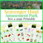 Printable Scavenger Hunt – Amusement Park