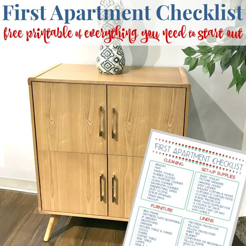 modern cabinet with checklist image inserted