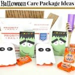 Close up of open postal box and Halloween gifts