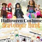 Halloween Costume Scavenger Hunt