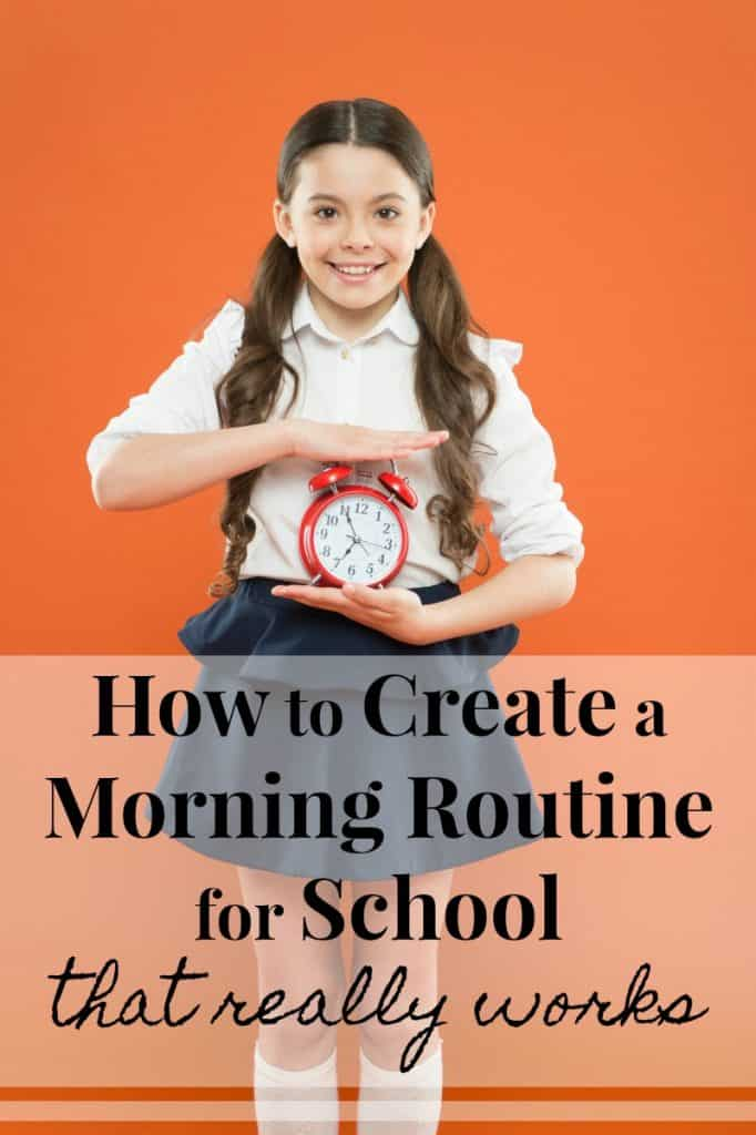 Smiling School Girl Holding Alarm Clock
