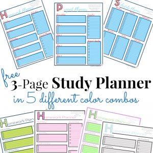 Study Planner – Free Printable