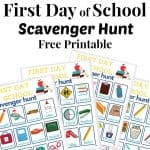 4 brightly colored scavenger hunt for school game boards