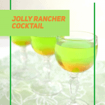 3 wine glasses of green drink with green overlay line box