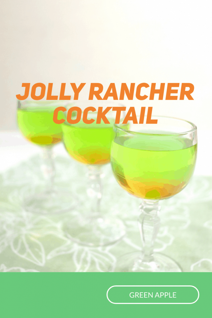 3 glasses of bright green and orange drink