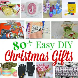 collage of 10 diy Christmas gifts images with text